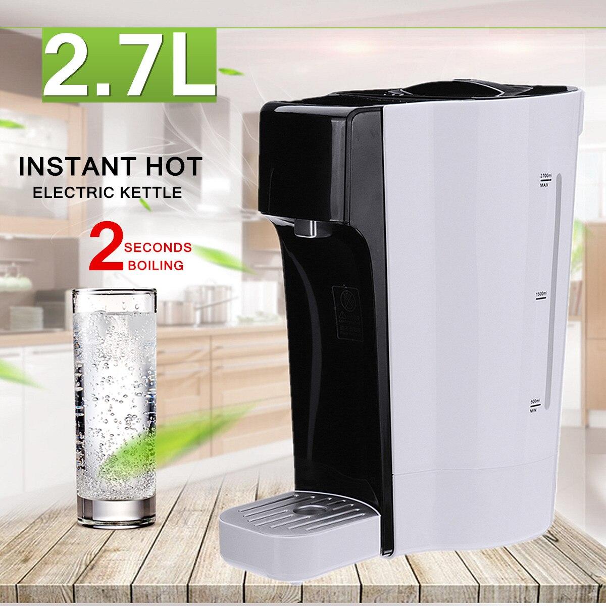 Instant Hot Electric Kettle 2200W 2.7L Tea Coffee Maker Water Boiling Dispenser Machine Home Desktop Office Food Grade Screen