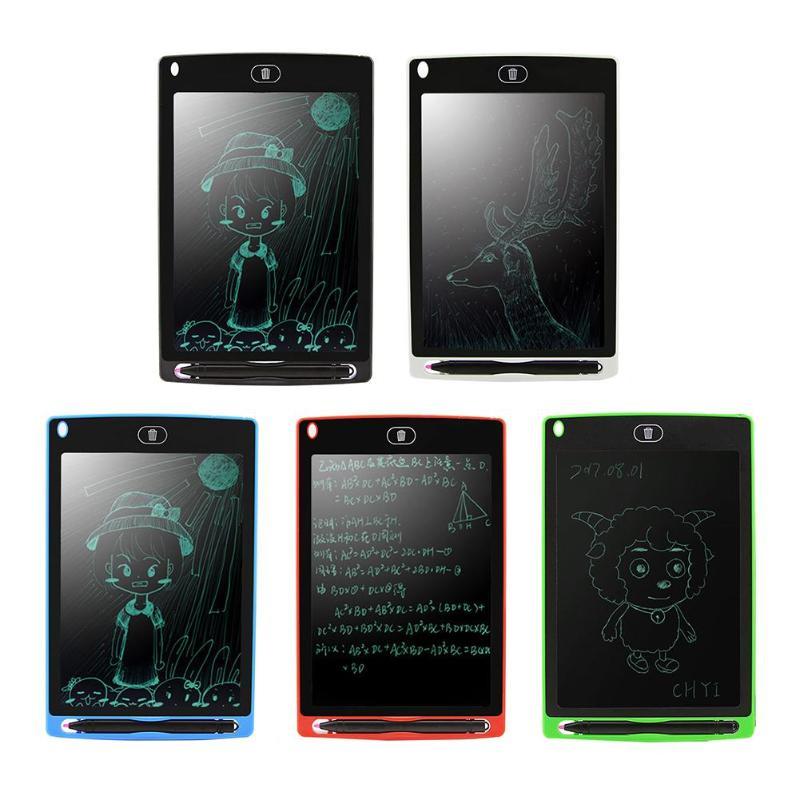 Portátil de 8,5 pulgadas LCD escritura Junta dibujo tableta gráfica de escritura de E-el papel electrónico del papel de los niños pintura educación