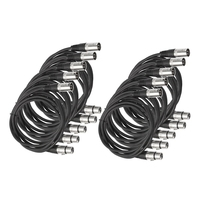 6Ft Patch Cable Cords Xlr Male To Xlr Female Balanced Snake Cord 10 Pack