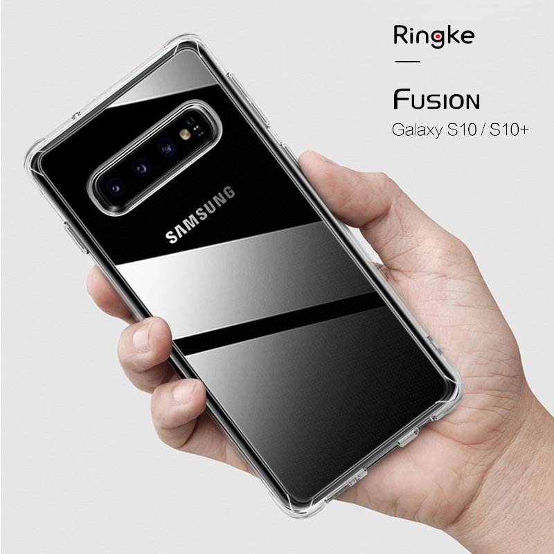 Ringke Fusion Designed for Galaxy S10 Silicone Case Flexible Tpu and Transparent Hard PC Back Cover Hybrid for S10 Plus S10e Ringke Fusion Designed for Galaxy S10 Silicone Case Flexible Tpu and Transparent Hard PC Back Cover Hybrid for S10 Plus S10e