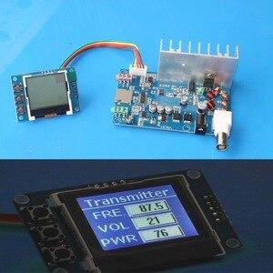 Image 1 - Receptor da estação de transmissão de rádio do display lcd de digitas da frequência do áudio estereofónico 76mhz 108 mhz do pll do transmissor de 5w fm