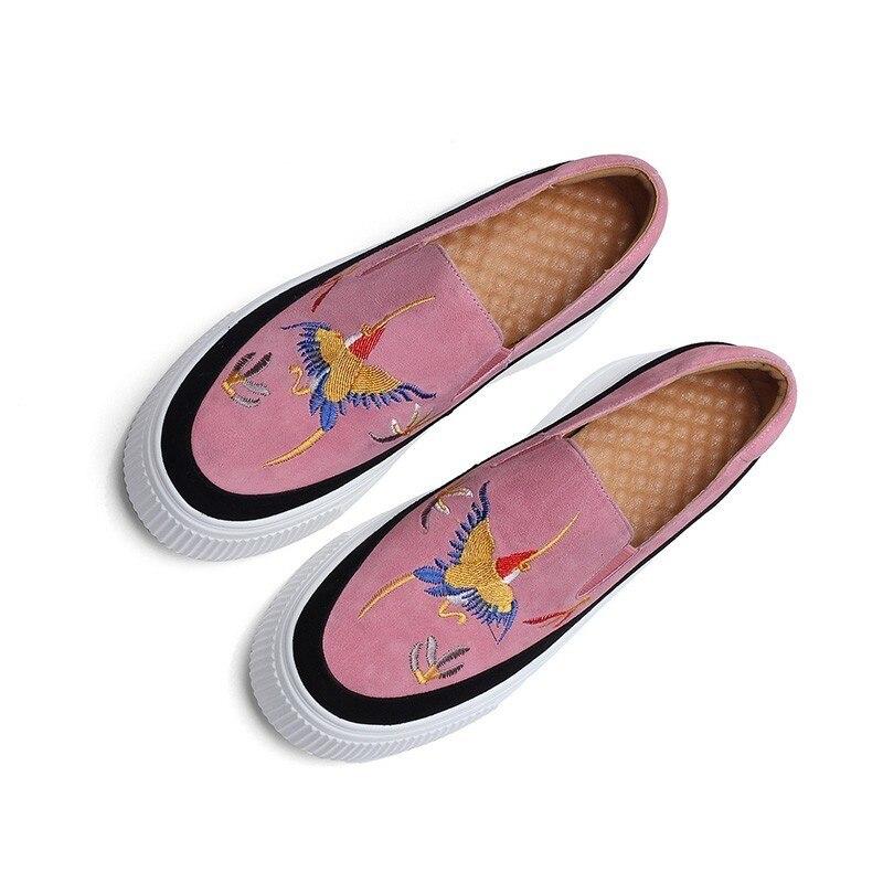 10sj457 Pie Dedo Verano Marea Black Imprimir Del Mujer Primavera 2019 Solo sordo Planos Zapatos Moda Bordar Colores Mezclados Colour Nueva Superficial De pink Casual Redondo Xtqw1yY
