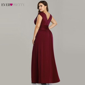 Image 4 - Plus Size Mother Of The Bride Dresses Ever Pretty V Neck A Line Chiffon Brides Mother Long Dresses For Weddings Farsali 2020