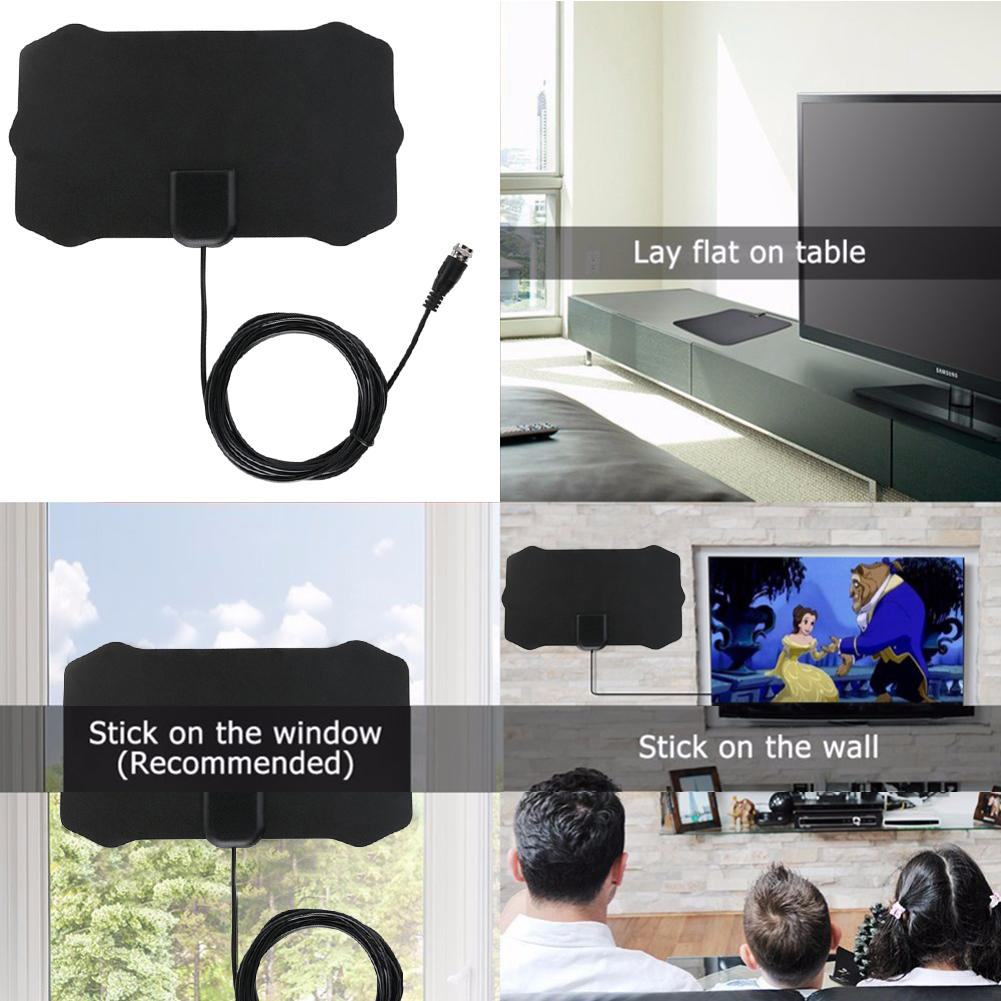 Image 5 - 80 Miles 1080P Indoor Digital TV Antenna Signal Receiver Amplifier TV Radius Surf Fox Antena HDTV Antennas Aerial Mini DVB T/T2-in TV Antenna from Consumer Electronics