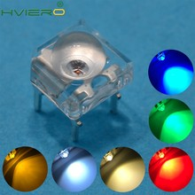 100pcs Led 5mm White Red Green Blue Yellow Pink Purple UV Dome Super Flux Water Clear Piranha Leds Car Lamps Light Through Hole(China)