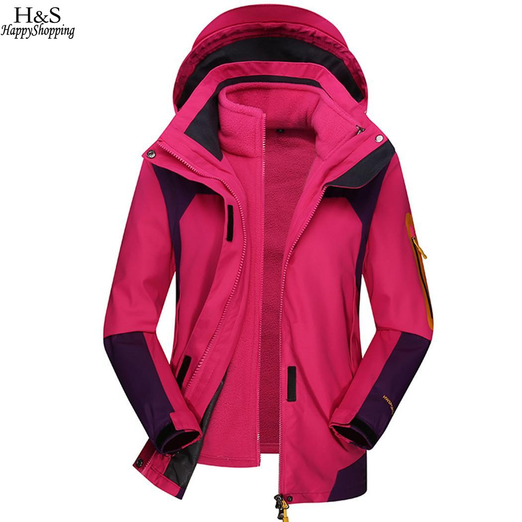 Sport Winter Jacket Casual Autumn Outdoor Zipper Jacket Warm Ski Neck Liner Sleeve Unisex With Hooded Patchwork LongSport Winter Jacket Casual Autumn Outdoor Zipper Jacket Warm Ski Neck Liner Sleeve Unisex With Hooded Patchwork Long