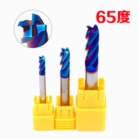 GEK HRC65 12R0.5*30*D12*75*4F Carbide 4 Flute Corner Radius End Mills HRC60 Blue NaCo to cut hard material
