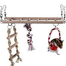 1 шт. подвесной мост для лазанья, для попугаев лестница игрушки для домашних животных Птицы хомяк беличья клетка подвесной мост лестница игрушки для домашних животных маленького размера жевательная игрушка