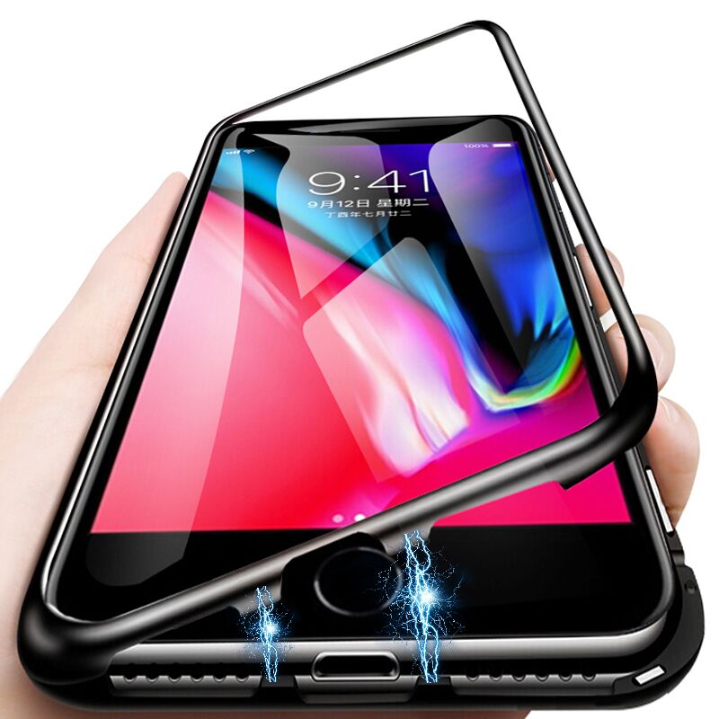 Magnetic Adsorption Case For iPhone 7 8 6 6S Plus Tempered Glass Metal Magnet Back Cover Cases For iPhone X XR XS Max Cover CaseMagnetic Adsorption Case For iPhone 7 8 6 6S Plus Tempered Glass Metal Magnet Back Cover Cases For iPhone X XR XS Max Cover Case