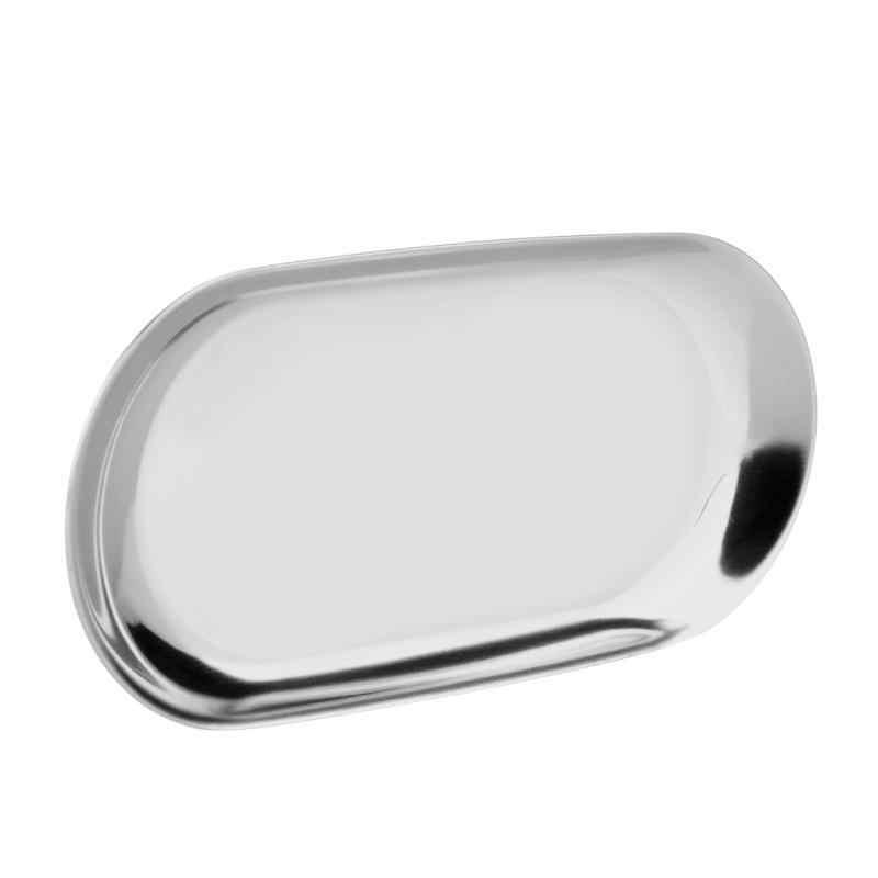 Mewah Nordic Style Penyimpanan Tray Emas Oval Dihiasi Piring Buah Barang Kecil Perhiasan Tampilan Baki Stainless Steel