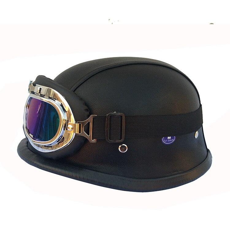 Free shipping New 2018 Man's ABS Plastic Motorcycle Helm Motorcross Capacete Half Helmet for Harley Retro Matte