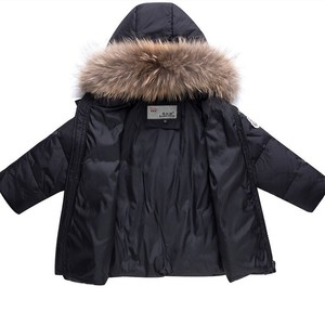 Image 4 - 2020 어린이 가을 겨울 얇은 자켓 파카 리얼 모피 보이 베이비 오버올 키즈 코트 snowsuit 스노우 의류 소녀 의류 세트