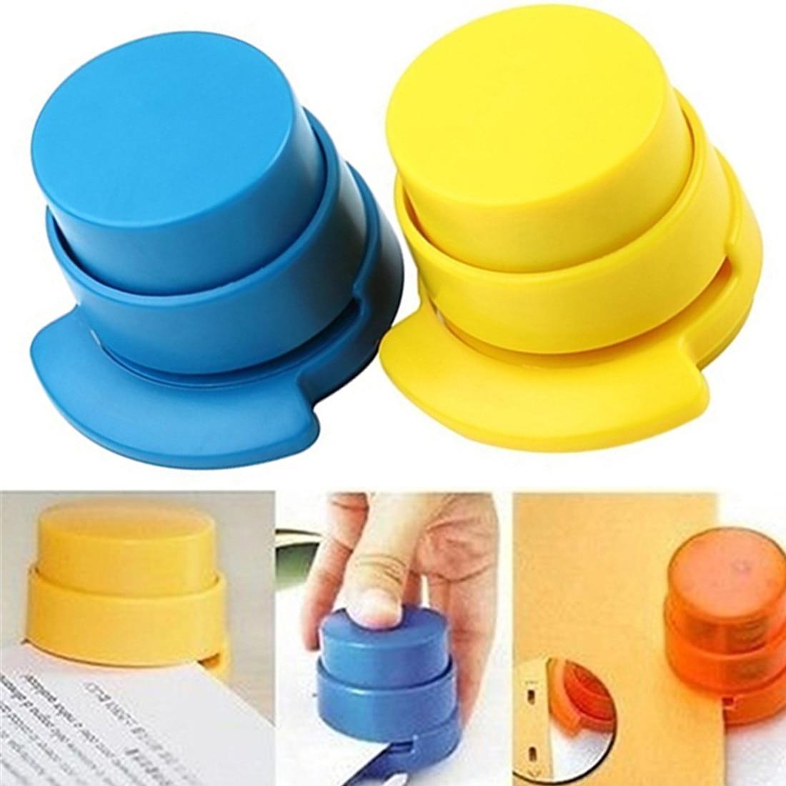 Hot Staple-Free Stapler Colorful Environmental Protection Stapleless Office  Home Paper Binding Binder