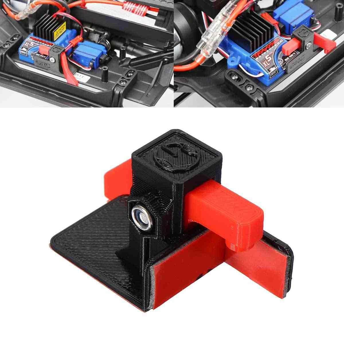 Interruptor de transferencia de coche RC para TRX-4 para la potencia del disparador de arranque de Hobbywing para 1080 esc interruptor de plástico + Kit de acero inoxidable