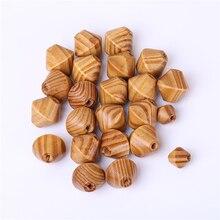 50 шт./компл. бусины из натурального дерева DIY резьба по дереву бусины сосны конус формы для серьги ожерелье делая 16*15 мм