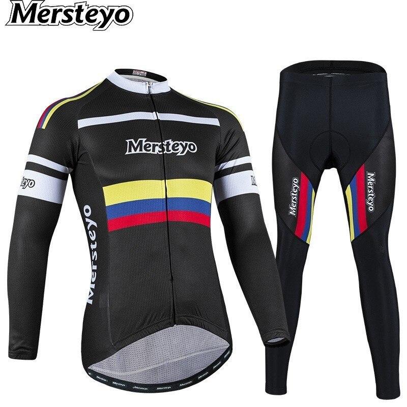 Vêtements de cyclisme ensemble Jersey vêtements à manches longues costume vélo extérieur route course voyage printemps Triathlon Montain vélo vtt hiver