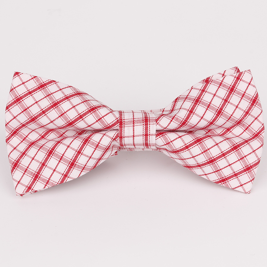 Boy's Tie 2019 New Spot Childrens Bow Tie Cotton Cotton Small Plaid Children Show Photo Shirt With Baby Bow Tie Flower