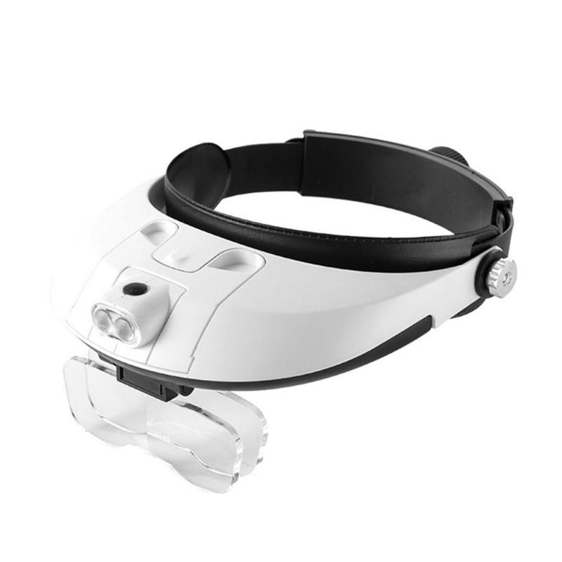 1.0-6.0X LED Headband Magnifier Magnifying Loupe Detachable Headlamp Magnifying Glass With 5 Replaceable Lens1.0-6.0X LED Headband Magnifier Magnifying Loupe Detachable Headlamp Magnifying Glass With 5 Replaceable Lens