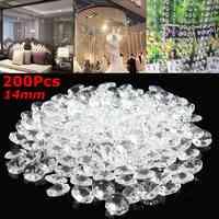 200 pièces clair 14mm cristal verre pendentif boule de lumière prisme à facettes verre chandelier cristal pièces pendentif lampe boule décor à la maison