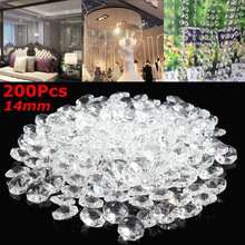 200pcs Clear 14mm Crystal Glass Pendant Light Ball Prism Faceted Glass Candlestick Crystal Parts Pendant Lamp Ball Home Decor(China)