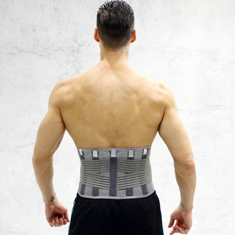 Elastic Breathable Lumbar Brace Waist Support Corset Orthopedic Posture Back Belt Lumbar Spine Relieves The Pressure Men Women