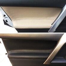 4 adet mikrofiber deri iç kapı paneli kapak Sticker Trim Toyota Prado 2010 için 2011 2012 2013 2014 2015 2016 2017 2018