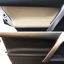 4 sztuk skóra z mikrofibry wewnętrznego drzwiowego Panel naklejka na pokrywę wykończenia dla Toyota Prado 2010 2011 2012 2013 2014 2015 2016 2017 2018