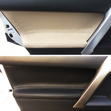 4pcs Microfiber Leather Interior Door Panel Cover Sticker Trim For Toyota Prado 2010 2011 2012 2013 2014 2015 2016 2017 2018
