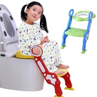 Baby Potty Toilet Safety Seat With Adjustable Ladder Baby Potty Chair Child Folding Toilet Trainers Step Stool Pot For Children