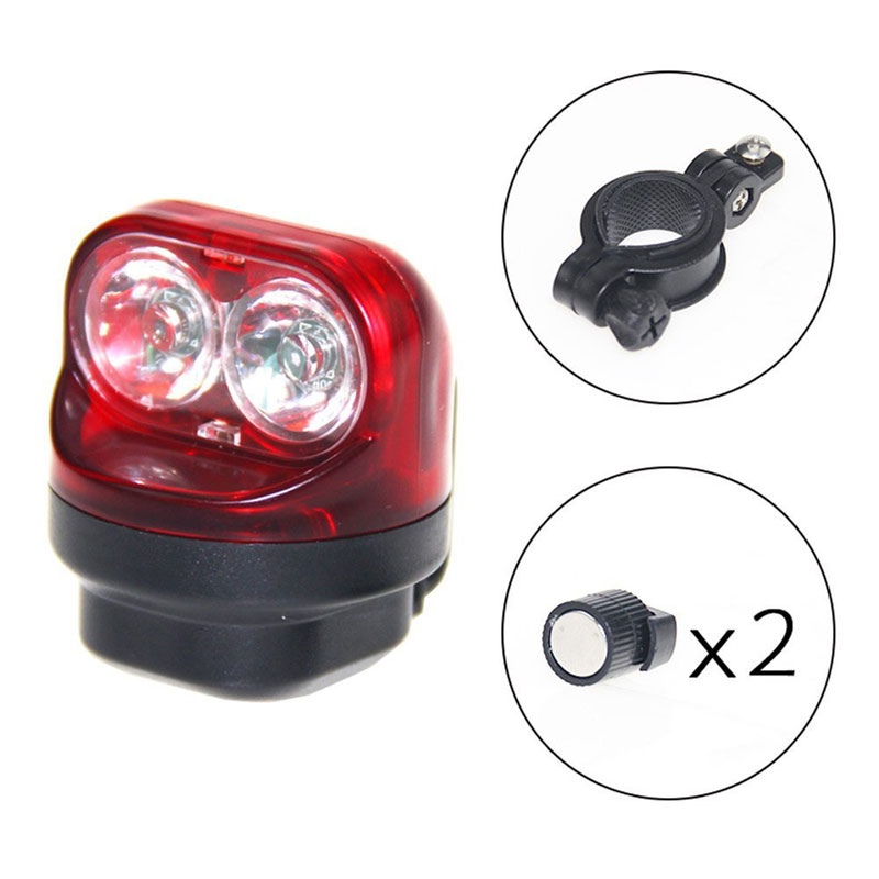 USB Rechargeable Bicycle Rear Lamp 2 XPE red LED Bike Back Lamp Waterproof Cycling Safety Warning Magnetic Induction Torch|Bicycle Light| |  - title=