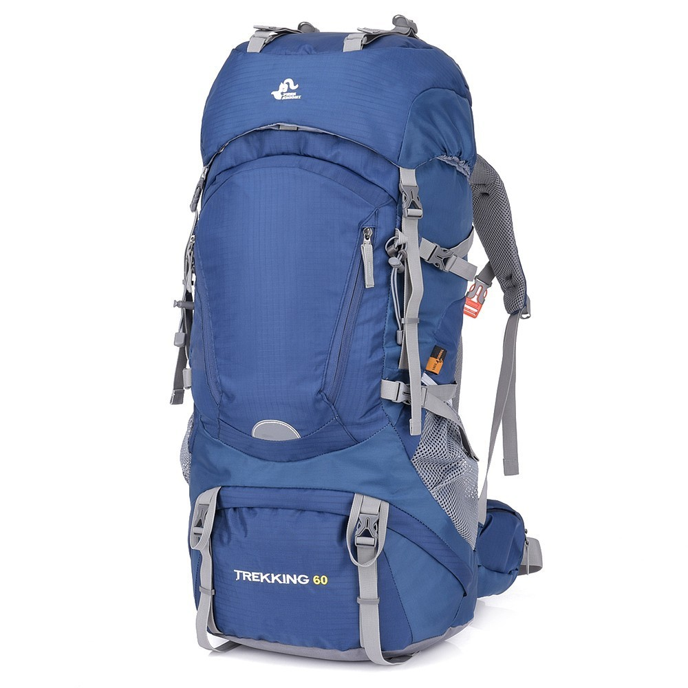 60L Waterproof Hiking Camping Bag Woman Outdoor Trekking Travel Backpack Army Ma