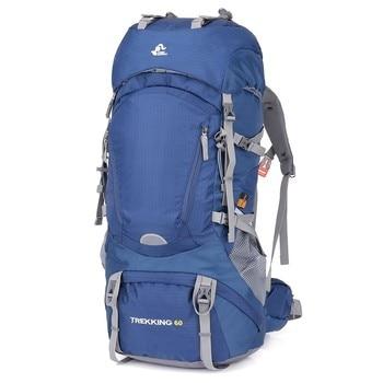 204b21f36eb 60L impermeable senderismo Camping bolso de mujer al aire libre senderismo  mochila de viaje de hombre del ejército caza montaña mochilas para cubierta  de ...
