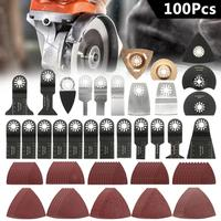100PCS Oscillating Saw Cutter Multi Function Tool Accessories Kit For FEIN BOSCH MAKITA