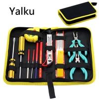 Yalku Hand Tool Set Tool Box Set Multitool Pliers Screwdriver Set Hand Tool Set Kit Bag Accessories Multitool Combination