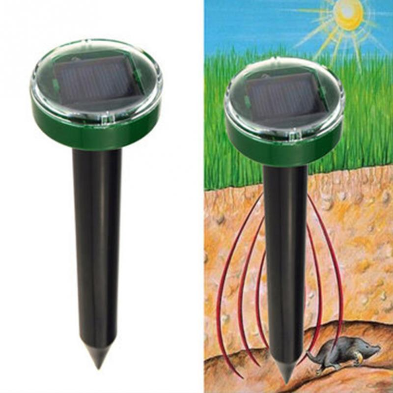 1Pcs Useful Solar Power Eco-Friendly Ultrasonic Gopher Mole Snake Mouse Repeller Control Mouse Repeller Garden Yard