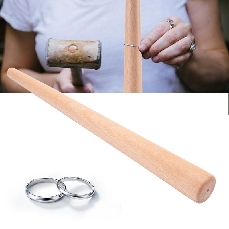 Wood Tapered Mandrel Stick Tool for Finger Ring Jewelry Rings Making Sizes Forming Polishing Measuring Stick Ring Jewelry Tools
