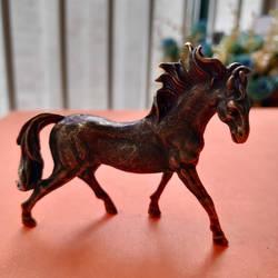 Коллекционное китайское резное бронзовое изделие, животное, Зодиак, тонкая лошадь, бегущая, изысканные маленькие статуи