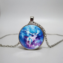 Watercolor painting  men necklace Glass Necklace and women Jewelry Pendant DIY customized photos