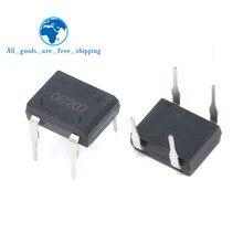 10 шт./лот диодный мост retifica DB207 DIP-4 DB207S DIP4 2A 1000 В мощность диод выпрямитель 1000 в электронные компоненты
