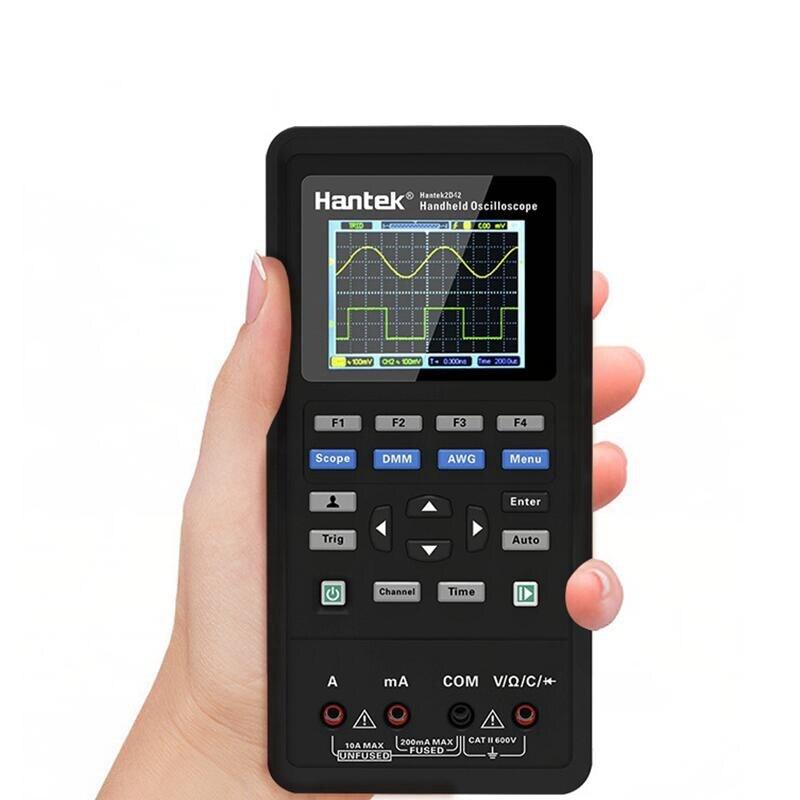 3 in1 Hantek 2CH Numérique Oscilloscope Générateur de Signaux Multimètre Portable USB 40 mhz 70 mhz LCD Champ D'affichage voltmètre outils