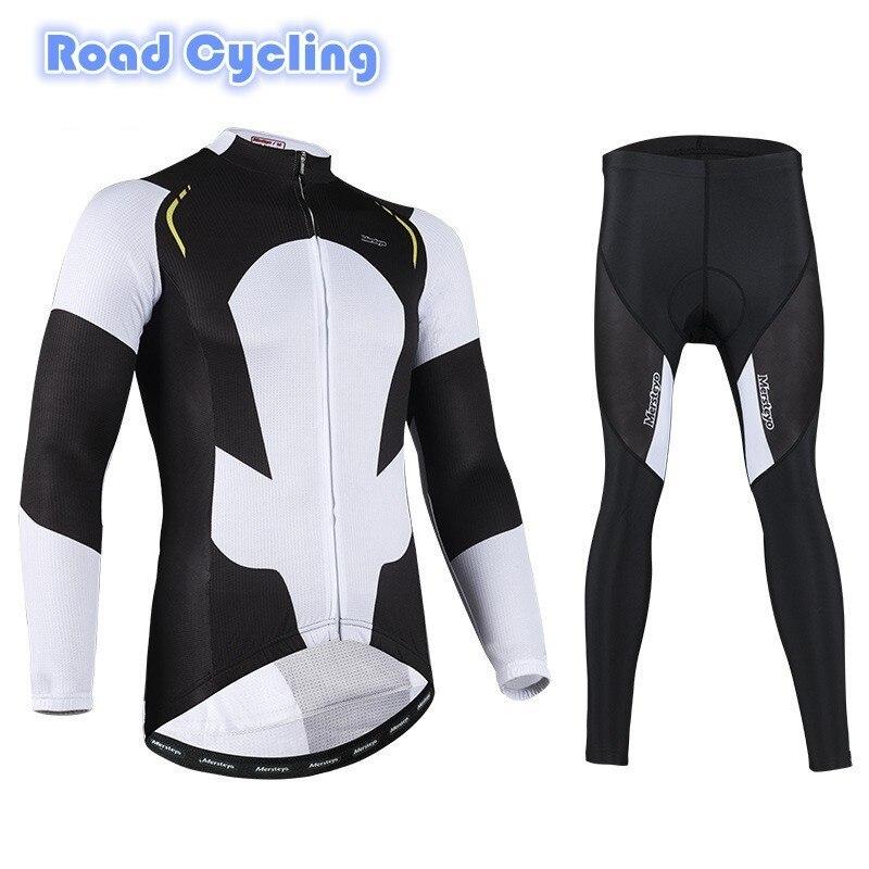 Printemps automne hiver cyclisme vêtements Jersey à manches longues ensemble vélo vêtements Triathlon vélo Sports de plein air route voyage course vtt