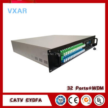 CATV 1550nm 32output fiber optical amplifier with WDM 32ports 18~23dBm EYDFA SC LC 1