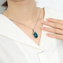 925 Silver necklace Jewelry Blue Topaz Pendants Gemstone Natural Necklace Woman jewelry Bizuteria Sapphire
