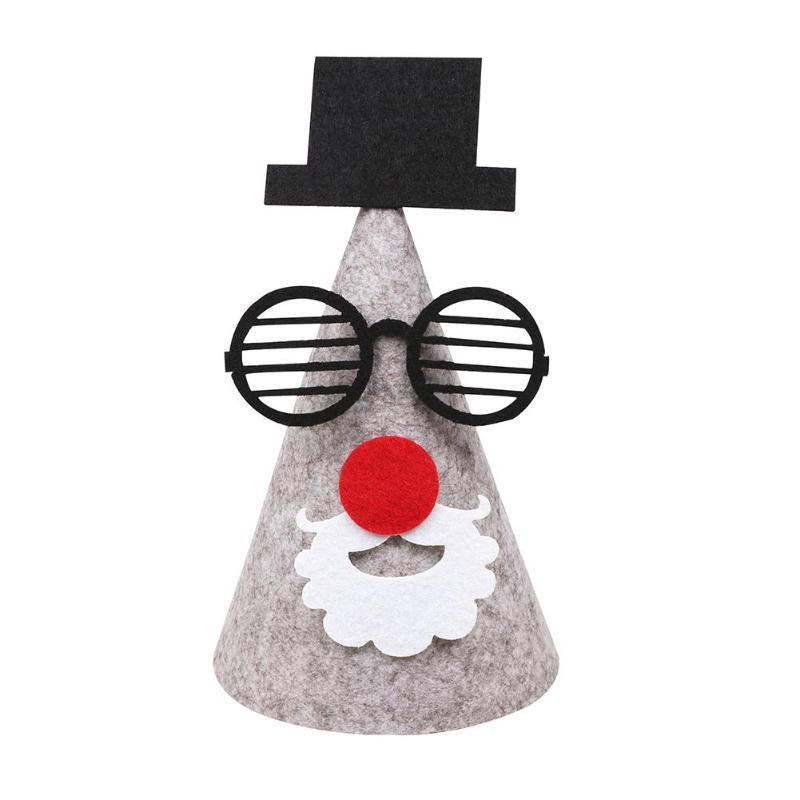 Home & Garden Christmas Hat Caps Diy Handmade Hat Holiday Masquerade Party Hats Felt Cloth Cap Xmas Decor Navida Christmas Gift
