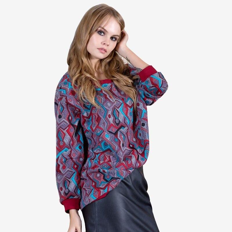 Sweatshirt 4700800-41 flower print pullover sweatshirt