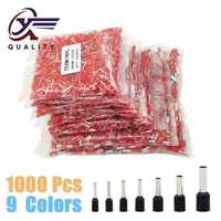 1000 unids/pack E0508 E7508 E1008 E1508 E2508 terminador de prensado eléctrico de cable de bloque de Terminal de Ferrules aislados
