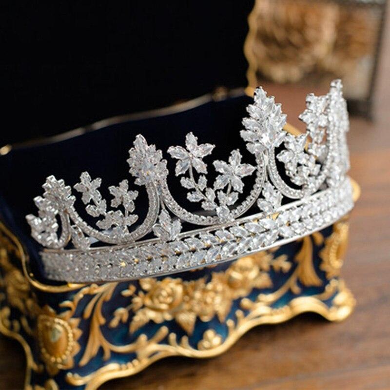 Хрустальные стразы, свадебная корона тиара, диадема, Королевская корона, головной убор, аксессуары для волос, женский свадебный головной уб... - 3