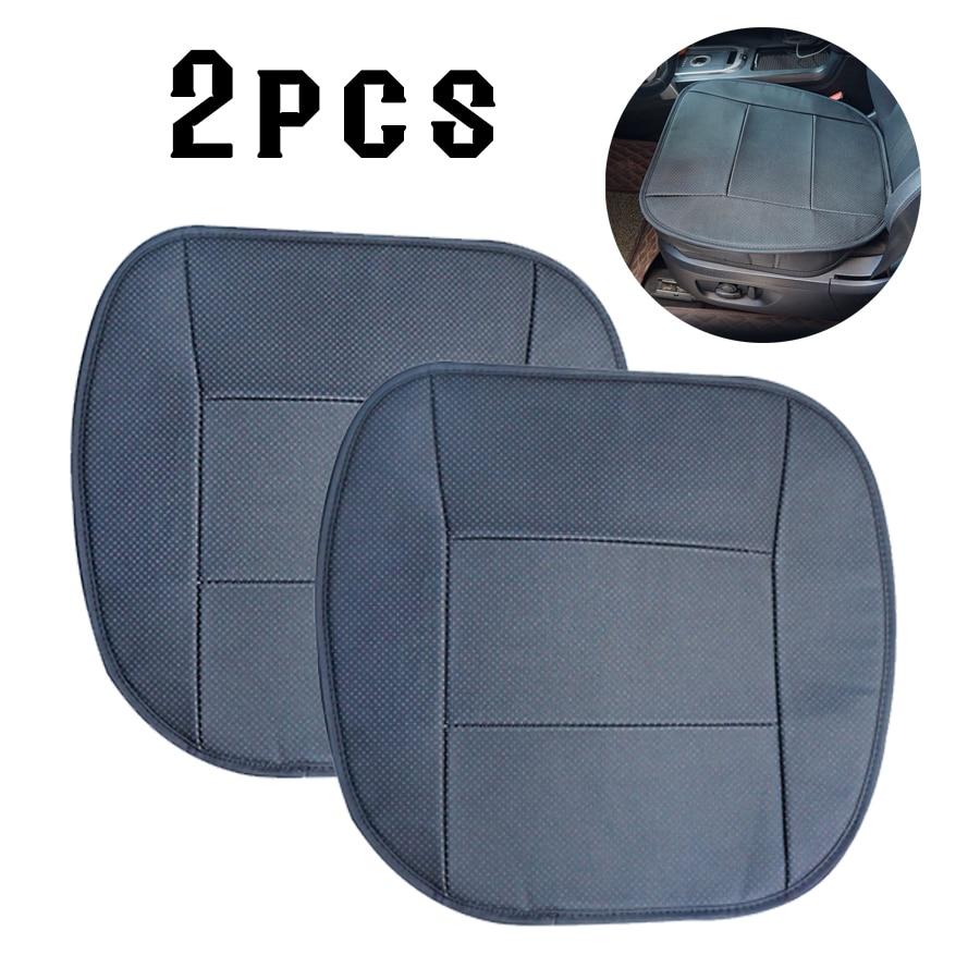 2 pcs PU Siège de couverture de voiture En Cuir Universel Protecteur Coussin pour BMW d'autres Véhicules-Noir