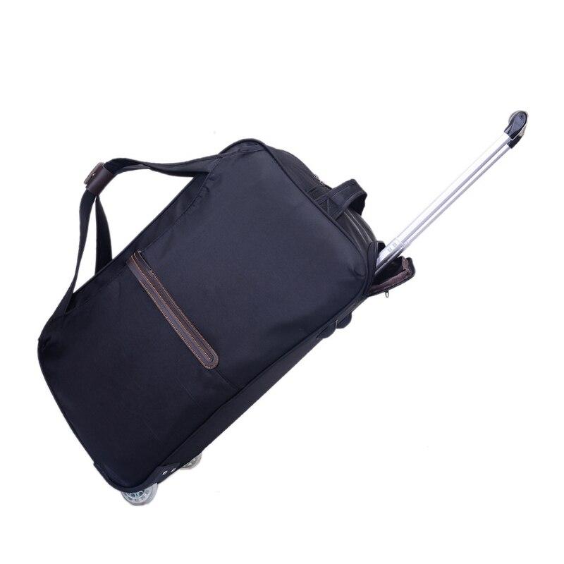Chariot à bagages en Nylon classique sac à main de voyage Portable valises sur roues chariot sac polochon organisateur de bagages accessoires de voyage