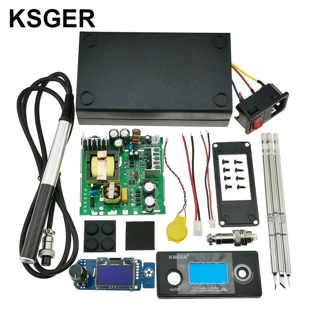 KSGER T12 STM32 V2 1S DIY KIts Soldering Iron Station OLED Controller ABS Case Stainless T12